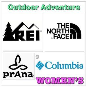 R.E.I., The North Face, Prada, Columbia items